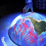 Geocenter Mons Klint added Globe4D to exhibit floor